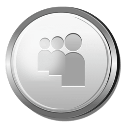 3D Myspace silver icon