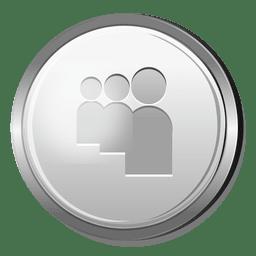 Icono 3D de plata Myspace