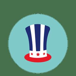 Icono redondo de sombrero nativo