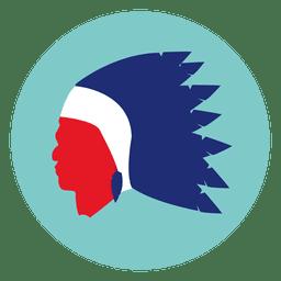 Native Maske rundes Symbol
