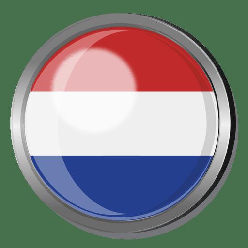 Netherlands flag badge Transparent PNG