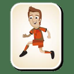 Dibujos animados de futbolista holandés