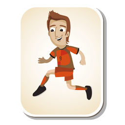 Netherlands football player cartoon