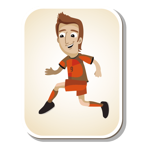 Netherlands football player cartoon Transparent PNG