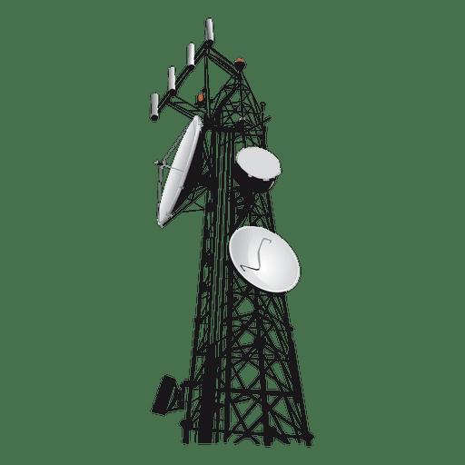 Ícone de torre de rede Transparent PNG