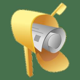 Icono de caja de periódico