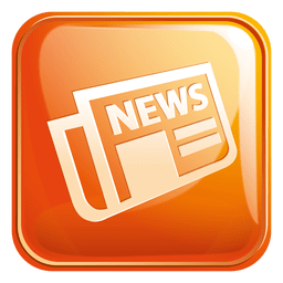 Newspaper square icon 3
