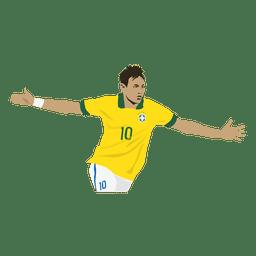 Desenho animado de Neymar