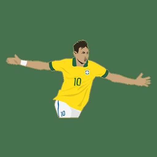 Dibujos animados de neymar