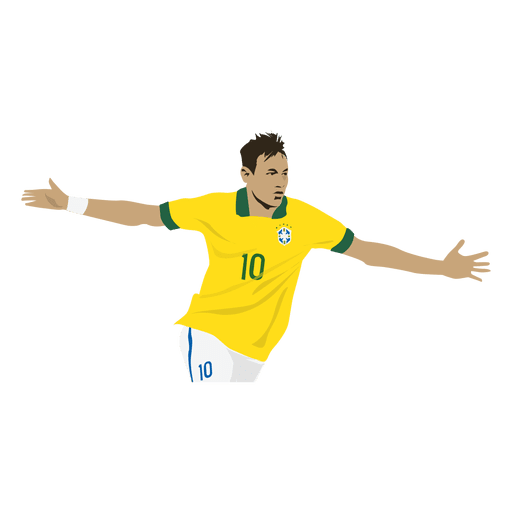 Neymar-Karikatur Transparent PNG