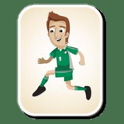 Desenho de jogador de futebol da Nigéria