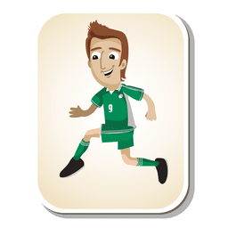 Nigeria football player cartoon