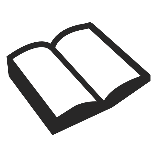 Open Book Icon White