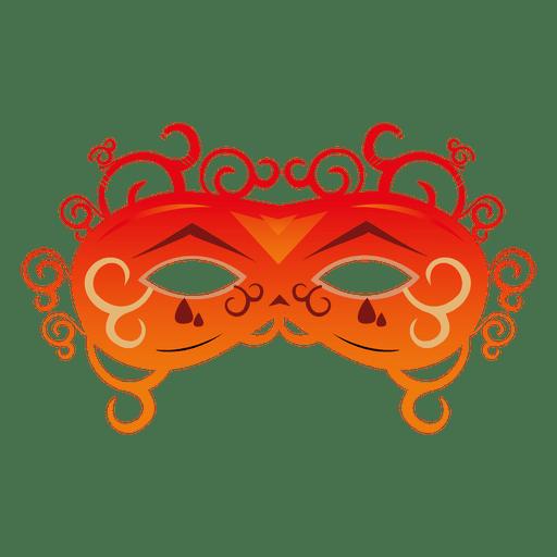 Orange carnival mask Transparent PNG