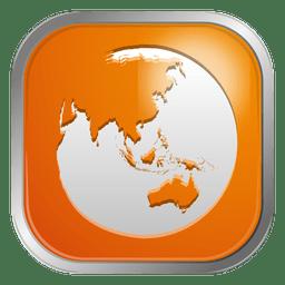 Orange Globus-Symbol