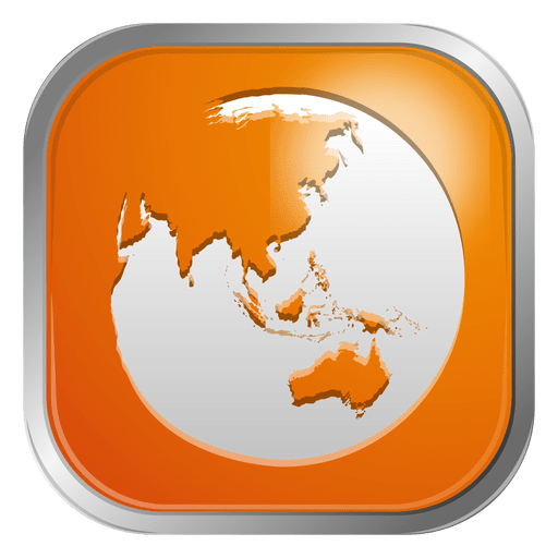 Orange globe icon Transparent PNG