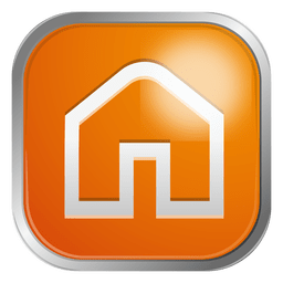 Orange house icon
