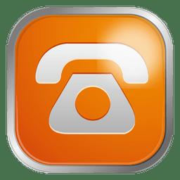 ícone do telefone de laranja