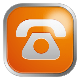 Orange telephone icon