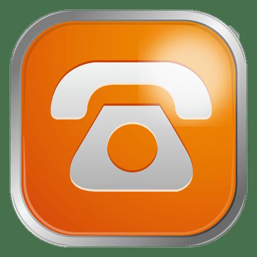 Ícone de telefone laranja Transparent PNG