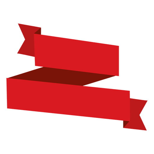 Cinta roja de origami Transparent PNG