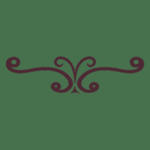Ornamento remolinos divisor 6 Transparent PNG