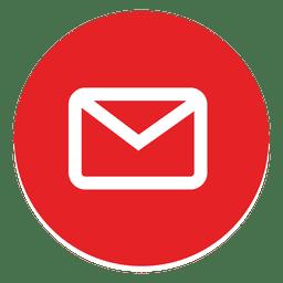 Icono redondeado de correo electrónico resumido