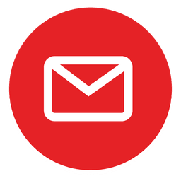 Outlined email round icon