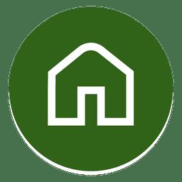 Casa delineada ícone redondo