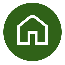Outlined house round icon