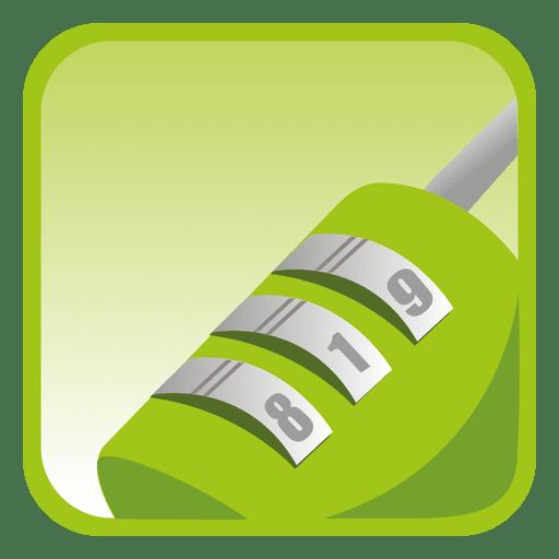 Botón cuadrado de candado Transparent PNG