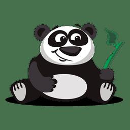 Panda-Karikatur