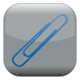 Paperclip square icon