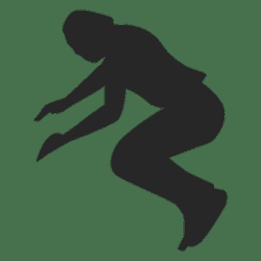 Parkour jumping silhouette 1 Transparent PNG