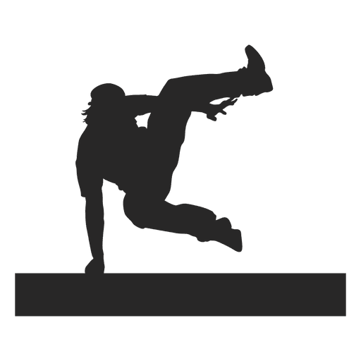 Parkour jumping silhouette 4