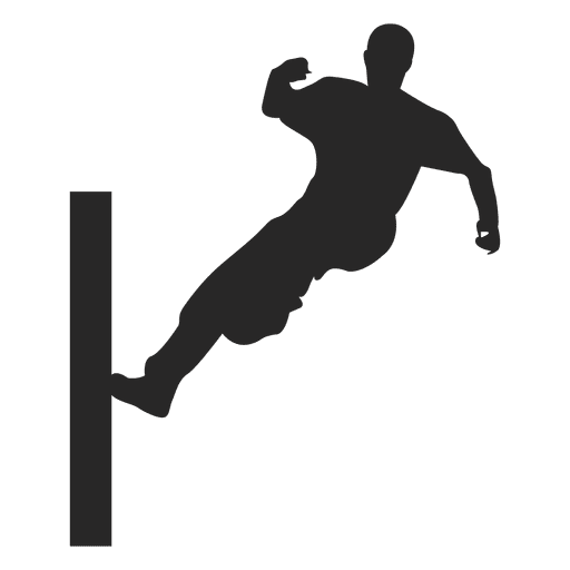 parkour jumping silhouette 5 transparent png   svg vector Mean Football Player Clip Art Football Player Tackle Clip Art