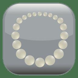 Pearl square icon