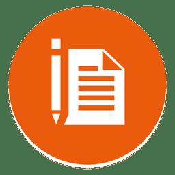 Icono de ronda papel pluma