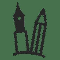 Icono de lápiz de la pluma