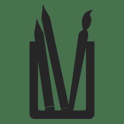 Icono de bote de lápiz