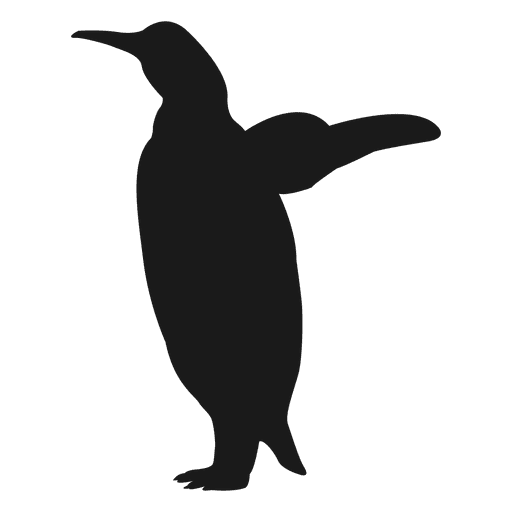 Silueta de pinguino