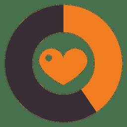 corazón porcentaje ronda