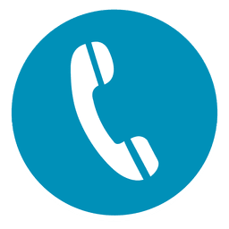 ícone redondo telefone