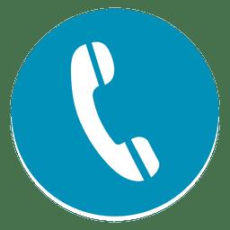 Icono de teléfono redondo