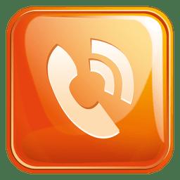 Icono cuadrado de telefono 3