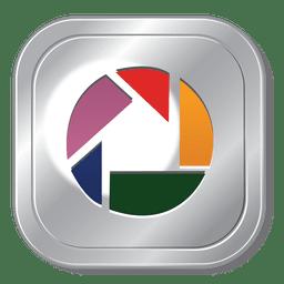 Picasa metallic button