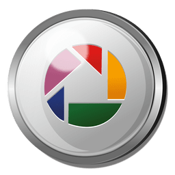 Picasa round metal button