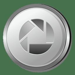 Icono de círculo de plata de Picasa