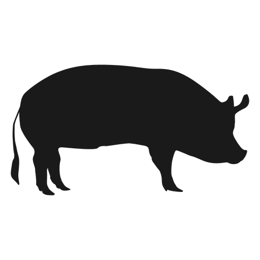 pig silhouette 1 transparent png svg vector rh vexels com Pig Silhouette Pattern Pig Silhouette Pattern