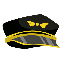 Pilot hat cartoon
